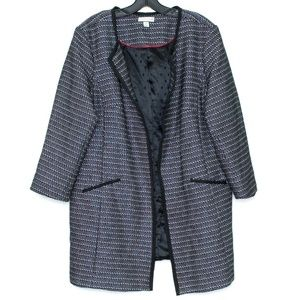 Charter Club Womens Tweed Jacket Open Front 16 G1